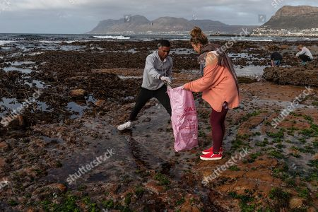 Editorial image of Plastic Waste beach clean up, Cape Town, South Africa - 04 May 2019
