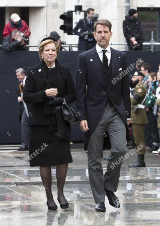 Crown Prince Pavlos and mother Queen Anne-Marie