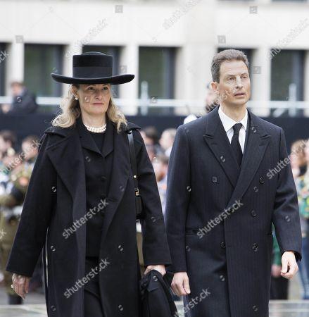 Stock Photo of Crown Prince Alois of Liechtenstein of Liechtenstein and his wife Hereditary Princess Sophie of Isenburg of Liechtenstein