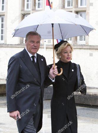 Stock Image of Prince Carlo of Bourbon-Two Sicilies and Princess Camilla of Bourbon-Two Sicilies