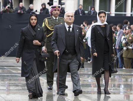 Stock Image of Princess Sarvath El Hassan, Prince El Hassan Bin Talal, Princess Badiya