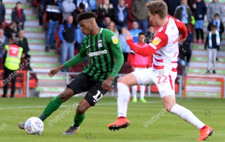 Dujon Sterling controls the ball  during the EFL Sky Bet League 1 match between Doncaster Rovers and Coventry City at the Keepmoat Stadium, Doncaster