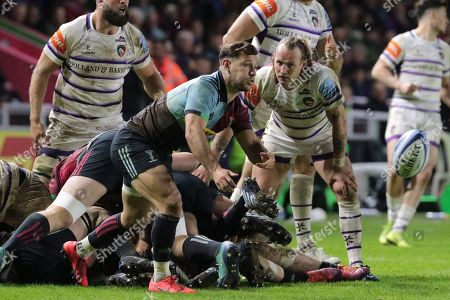 Editorial picture of Harlequins v Leicester Tigers, Gallagher Premiership, Rugby, The Stoop, London, UK - 03 May 2019
