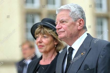 Stock Photo of Joachim Gauck, Daniela Schadt
