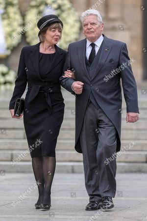Stock Picture of Joachim Gauck, Daniela Schadt