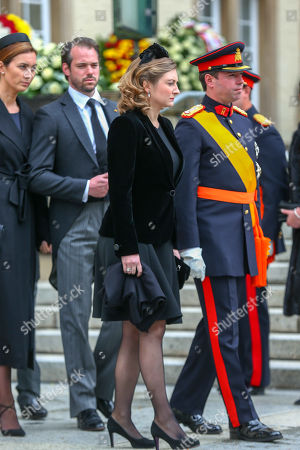 Prince Felix, Princess Claire, Crown Hereditary Grand Duke Guillaume of Luxembourg and Princess Stephanie