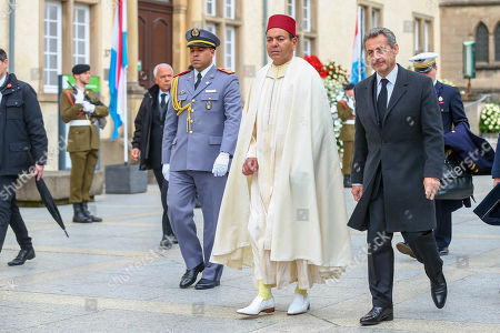Stock Photo of Prince Moulay Rachid of Morocco, Nicolas Sarkozy