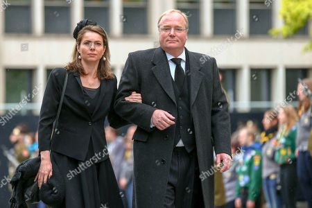 Stock Image of Prince Carlos of Bourbon-Parma, Princess Annemarie