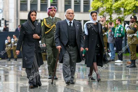 Stock Picture of Prince Hassan bin Talal, Princess Sarvath El Hassan, Prince Rashid, Princess Badiya