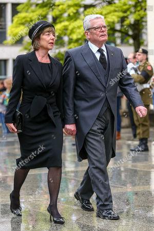 Stock Image of Joachim Gauck, Daniela Schadt,