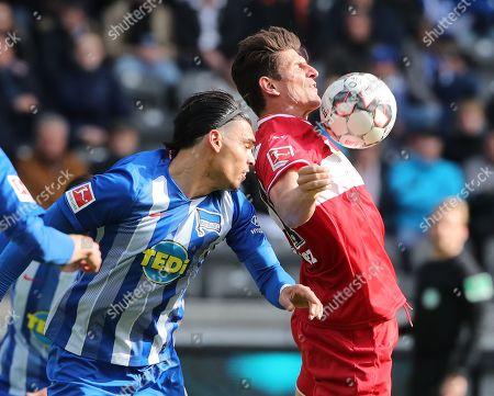 Karim Rekik, Mario Gomez /   /        /       / Sport / Football / DFL Bundesliga  /  2018/2019 / 04.05.2019 / Hertha BSC Berlin vs. VfB Stuttgart / DFL regulations prohibit any use of photographs as image sequences and/or quasi-video. /