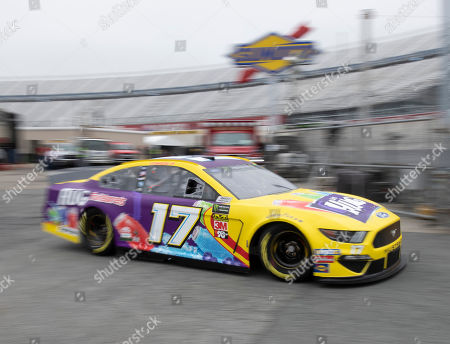 Ricky Stenhouse Jr. heads out to the track during practice for the NASCAR Cup Series auto race, at Dover International Speedway in Dover, Del