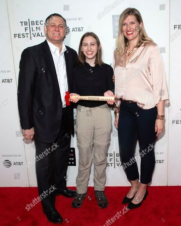 Stock Picture of Craig Hatkoff, Alexandria Villasenor, Beatrice Fihn. Co-founder of the Tribeca Film Festival and the Tribeca Film Institute Craig Hatkoff, from left, honoree Alexandria Villasenor and presenter Beatrice Fihn attend the 10th annual Tribeca Disruptive Innovation Awards at the Stella Artois Theater, in New York