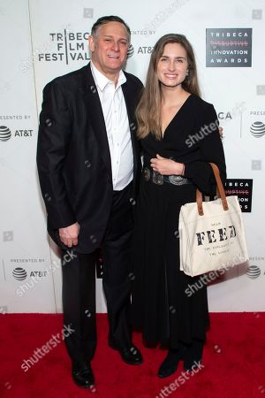Craig Hatkoff, Lauren Bush Lauren. Co-founder of the Tribeca Film Festival and the Tribeca Film Institute Craig Hatkoff, left, and honoree Lauren Bush Lauren attend the 10th annual Tribeca Disruptive Innovation Awards at the Stella Artois Theater, in New York