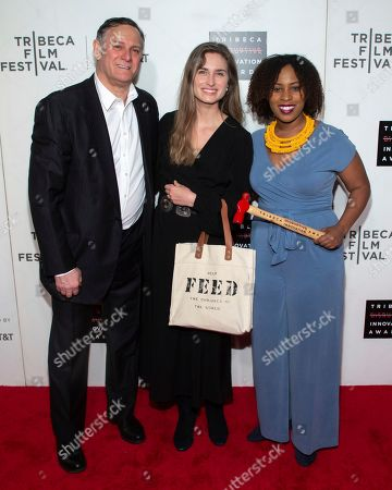 Craig Hatkoff, Lauren Bush Lauren, Ashley Edwards. Co-founder of the Tribeca Film Festival and the Tribeca Film Institute Craig Hatkoff, from left, honorees Lauren Bush Lauren and Ashley Edwards attend the 10th annual Tribeca Disruptive Innovation Awards at the Stella Artois Theater, in New York