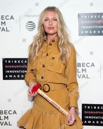 Stock Image of Veronica Varekova. Honoree Veronica Varekiova attends the 10th annual Tribeca Disruptive Innovation Awards at the Stella Artois Theater, in New York