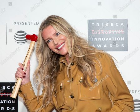 Veronica Varekova. Honoree Veronica Varekiova attends the 10th annual Tribeca Disruptive Innovation Awards at the Stella Artois Theater, in New York