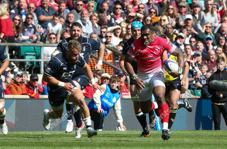 Stock Image of Semesa Rokoduguni of Army breaks clear Picture: Andrew Fosker / Seconds Left Images