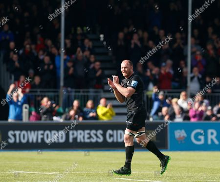 Schalk Burger of Saracens leaves the field