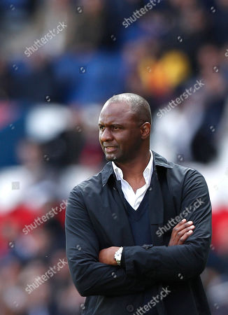 Nice head coach Patrick Vieira looks on during the French Ligue 1 soccer match between PSG and Nice at the Parc des Princes stadium in Paris, France, 04 May 2019.