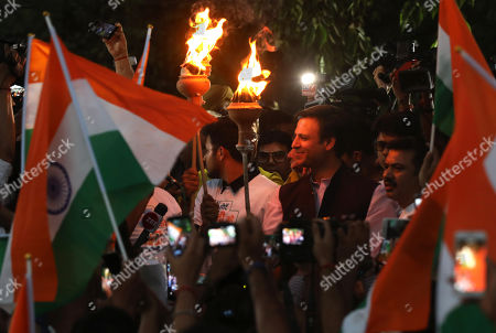 Indian actor Vivek Oberoi takes part in a support march for the Delhi Bharatiya Janata Party (BJP) candidates during election campaigning of BJP in New Delhi, India, 04 May 2019. Oberoi plays Indian PM Modi in controversion biopic on Modi and since turned a star campaigner for the BJP in the parliamentary elections. Elections for the Lok Sabha began on 11 April 2019 and are conducted in seven phases throughout India. Results are expected to be announced on 23 May.