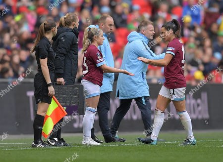 Editorial picture of Manchester City Women v West Ham United Women, SSE Women's FA Cup - Final, Football, Wembley Stadium, London, UK - 04 May 2019