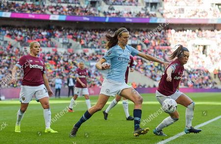 Editorial image of Manchester City Women v West Ham United Women, SSE Women's FA Cup - Final, Football, Wembley Stadium, London, UK - 04 May 2019