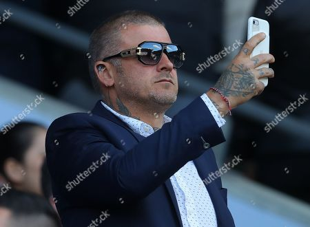 Stock Picture of Welsh stunt performer Matthew Pritchard, star of Dirty Sanchez, in the crowd