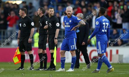 Dejected Aron Gunnarsson of Cardiff City.