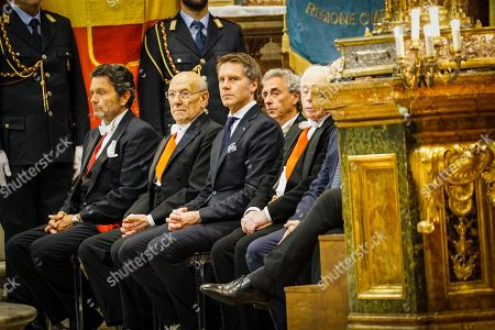 Emanuele Filiberto of Savoy, Prince of Venice (C) listens to Naples' archbishop Cardinal Crescenzio Sepe as they attend the socalled liquefaction of the blood of Saint Januarius (Saint Gennaro) during the miracle announcement in the Cathedral of Naples, Italy, 04 May 2019.  Januarius is the patron saint of Naples, where the faithful gather three times a year in the Naples Cathedral to witness the alleged liquefaction of what is claimed to be a sample of his blood kept in a sealed glass ampoule.