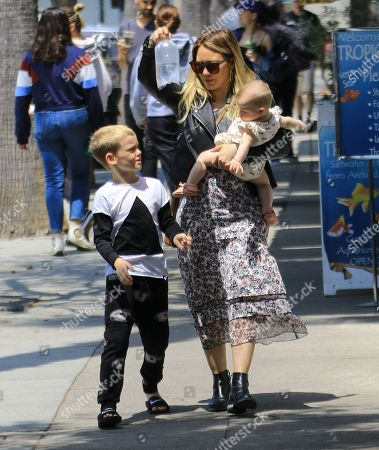 Hilary Duff with children, Banks Violet Bair and Luca Cruz Comrie