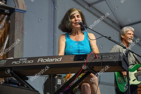 Stock Photo of Marcia Ball performs at the New Orleans Jazz and Heritage Festival, in New Orleans