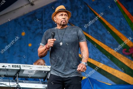 Aaron Neville performs at the New Orleans Jazz and Heritage Festival, in New Orleans