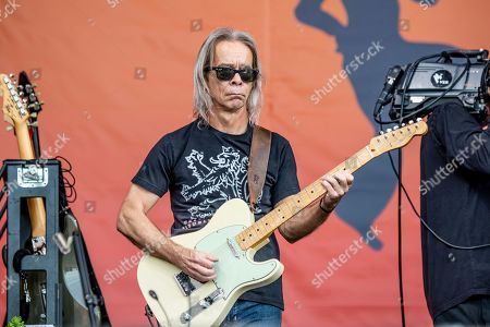 Tim Reynolds of the Dave Matthews Band performs at the New Orleans Jazz and Heritage Festival, in New Orleans