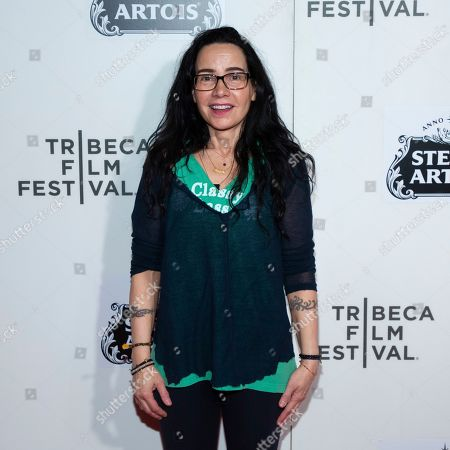 """Janeane Garofalo attends the screening for """"Reality Bites - 25th Anniversary Reunion"""" during the 2019 Tribeca Film Festival at the Tribeca Performing Arts Center, in New York"""