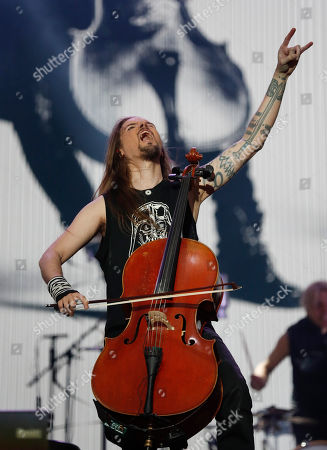 Stock Photo of Perttu Kivilaakso of Apocalyptica performs at the Domination Music Festival in Mexico City