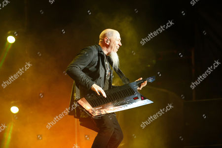 Stock Photo of Jordan Rudess of American progressive metal band Dream Theater performs at the Domination Music Festival in Mexico City