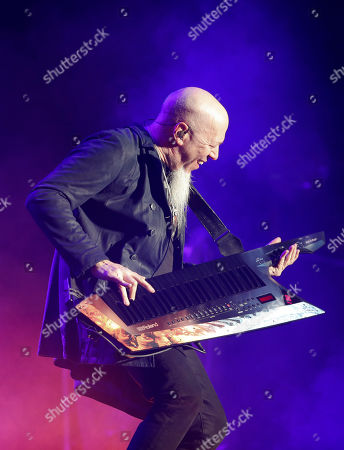 Jordan Rudess of American progressive metal band Dream Theater performs at the Domination Music Festival in Mexico City
