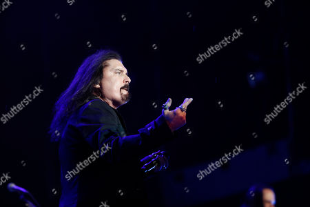 Stock Image of James LaBrie of American progressive metal Dream Theater performs at the Domination Music Festival in Mexico City