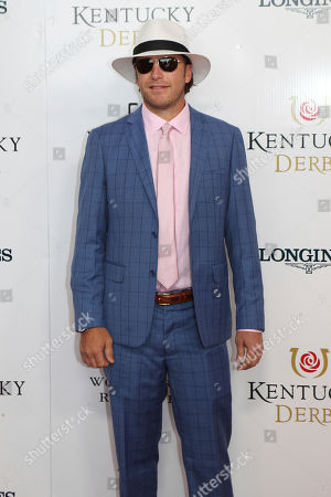 Stock Image of Bode Miller walks the red carpet before the 145th running of the Kentucky Derby horse race at Churchill Downs, in Louisville, Ky