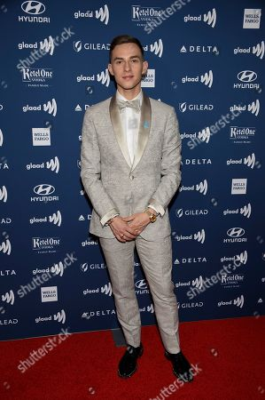 Former figure skater Adam Rippon attends the 30th annual GLAAD Media Awards at the New York Hilton Midtown, in New York