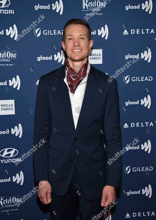 Stock Image of Chris Mosier attends the 30th annual GLAAD Media Awards at the New York Hilton Midtown, in New York