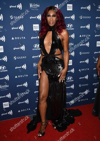 Mila Jam attends the 30th annual GLAAD Media Awards at the New York Hilton Midtown, in New York