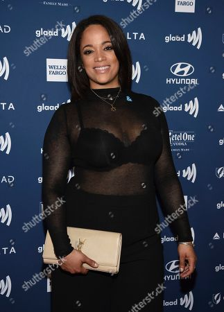 Aneesa Ferreira attends the 30th annual GLAAD Media Awards at the New York Hilton Midtown, in New York