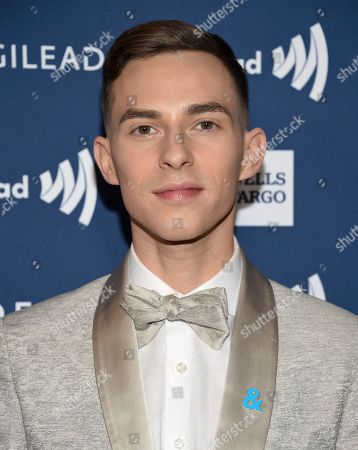 Adam Rippon attends the 30th annual GLAAD Media Awards at the New York Hilton Midtown, in New York