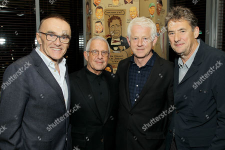 Stock Picture of Danny Boyle (Director), Ronald Meyer (Vice Chairman of NBCUniversal), Richard Curtis (Producer, Writer), Tim Bevan (Producer)