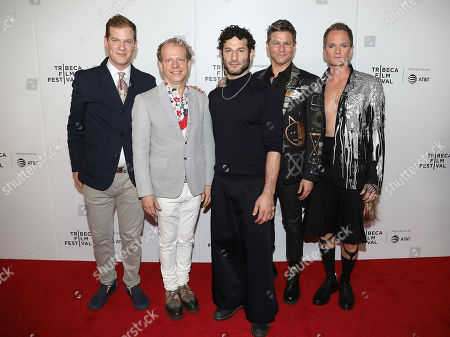 Stock Picture of Todd Lubin, Bruce Cohen, Chris Moukarbel (Director; Wig), David Burtka and Neil Patrick Harris
