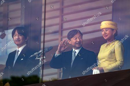 Prince Akishino, Emperor Naruhito and Empress Masako