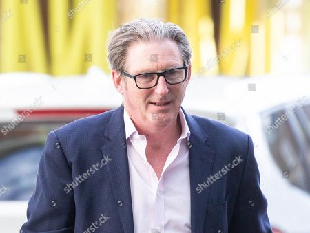 Actor, Adrian Dunbar, currently in the very popular show 'Line of Duty' arrives to appear on 'The Andrew Marr Show'.