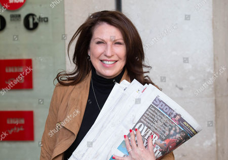 Daily Mail Journalist, Amanda Platell, arrives to appear on 'The Andrew Marr Show'.